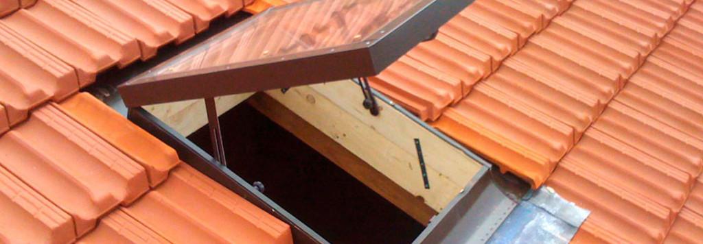 Rifacimento del teto, dettaglio lucernario con fermi di sicurezza