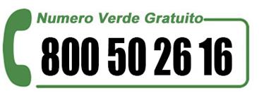 NUmero verde 800 502616