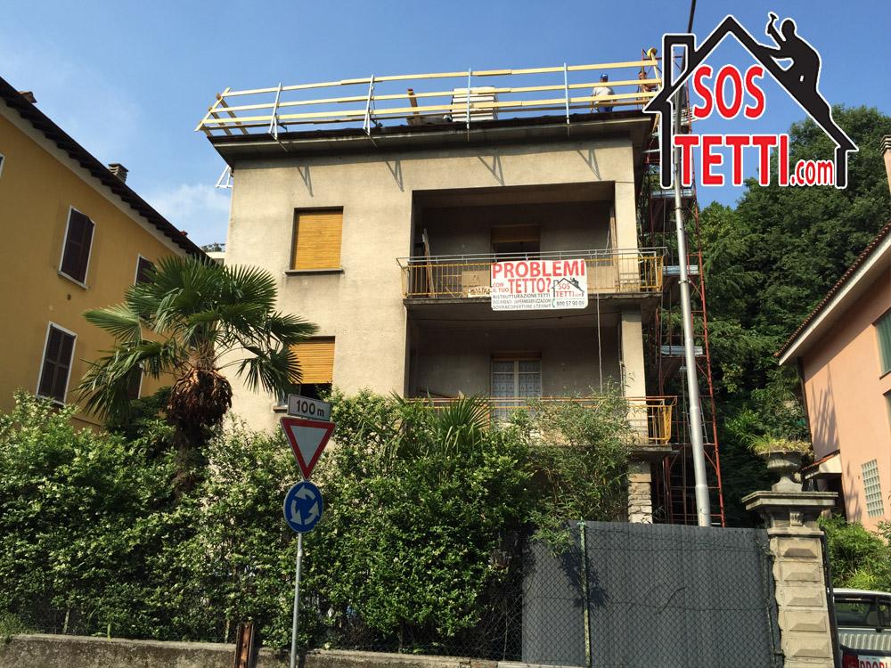 Ristrutturazione del tetto - Como via Bellinzona -